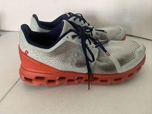 On Cloud Cloudtec Swiss Engineering Shoes Size 9.5 Helion Rust Orange Grey