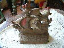 Antique Ship Single Cast Iron Bookend (or Doorstop) ~Nice~