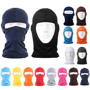 Solid Thin Face Mask Shield Motorcycle Cycling Balaclava Lycra Face Neck Outdoor