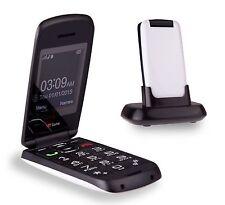 TTfone Star Big Button Simple Easy Flip Sim Free Senior Mobile White - 14Day