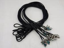 Lot of 44  8' Portable Black Galvanized Steel Key Cable Laptop Lock - No Key
