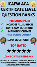 ICAEW ACA Certificate Level Question Banks Download