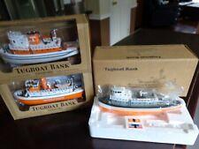 COMPLETE SET UT VOLS NAVY TUGBOAT BANKS  LTD EDITIONS #1,2 AND 3 ERTL 1/55 NEW