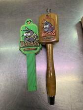 LOT OF 2 BADASS HARD CIDER Pear & Apple Bar TAP HANDLE Used