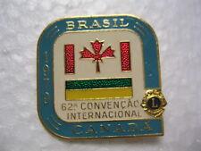 Lions Club Pin 1979 Brasil Canada 62 A Convention International
