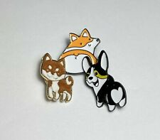 3-Piece Set Adorable Dog Brooches — US Seller