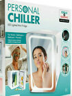 Personal Chiller Cool Warm LED Lighted Mini Fridge Mirror Door Car RV Boat Dorm