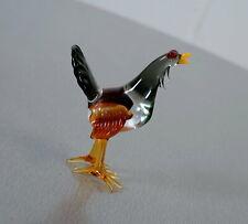 Murano Glas Truthahn Tier Figur Skulptur Vogel Tierwelt 7,9 cm Bunt 70er Jahre