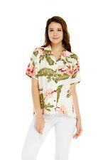 Women Ladies Aloha Shirt in Rafelsia Cream