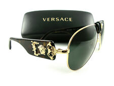 New VERSACE Sunglasses VE 2150Q Gold Havana 1002/71 Authentic