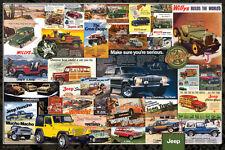 Jeep- Vintage Ads Poster Print, 36x24