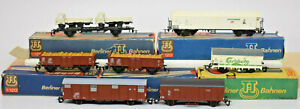 BERLINER BAHNEN TT 1:120 LOT OF 7 RAILWAY CARS USED SOME IN BOXES, SOME NOT