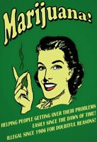 Marijuana helping People .. Blechschild Schild gewölbt Metal Tin Sign 20 x 30 cm
