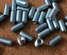 5 of  M5 x 10mm Hard Steel Cup Point Grub Socket Set Screws 45H Zinc Plated
