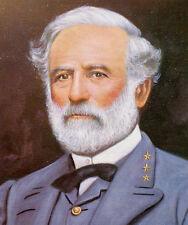 Civil War Paintings: Robert E Lee Confederate General USA Real Canvas Print