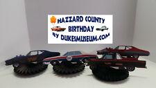 DUKES OF HAZZARD-  HAZZARD COUNTY BIRTHDAY DECORATIONS- RACE CAR FANS