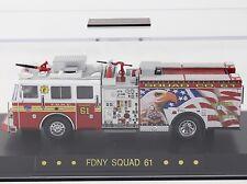 "Code 3 FDNY New York Seagrave ""Eagle"" Squad 61 Fire Truck 1:64 Diecast 12814"