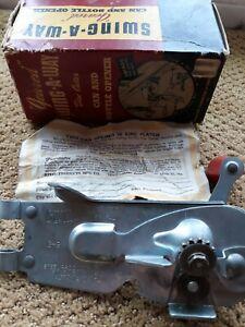 Swing Away Geared Can Opener Vintage w/box