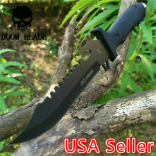 Fixed Blade Knife Sharp Camping Hunting Survival Tactical Military Bowie Knives