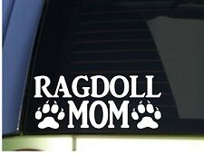 Ragdoll Mom sticker *H289* 8.5 inch wide vinyl cat kitten litter box