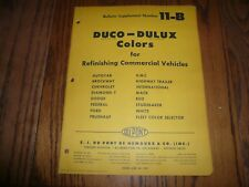 1957 Chevrolet Ford Dodge White GMC DuPont Duco-Dulux Commercial Paint Chips
