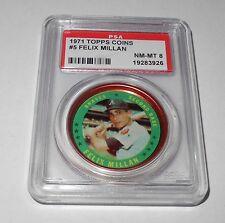 "1971 Topps Baseball Coin #5 Felix Millan ""Atlanta Braves"" PSA 8 NM-MT"