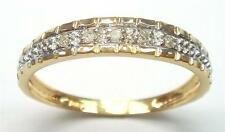 NICE 10KT YELLOW GOLD NATURAL DIAMONDS BAND RING SIZE 7   R1292