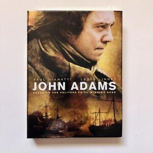 JOHN ADAMS- 3-DVD Set, HBO Miniseries, 2008, Paul Giamatti, Laura Linney!!