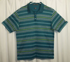 Nike Tiger Woods Golf Polo Shirt Men's Medium M Green / Multi-Color Striped