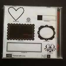 "Stampin' Up Retired """"  Framed With Love """"  Clear Mount Stamp Set"