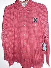 Nebraska Huskers Button up Long Sleeve Red T-Shirt Men Med NEW