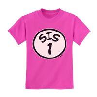 Sis 1 Kids T-Shirt Brother Seuss Sister Siblings Thing Dr 1 2 3 Crewneck Tee Top