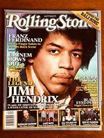 ROLLING STONE AUST OCT 2005 Jimi Hendrix, Franz Ferdinand, Eminem, Sonic Youth