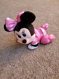 2013 Fisher Price Disney Baby Minnie Mouse Touch N Crawl Plush Crawling TESTED