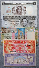 Set of 5 diff. countries North Africa - Libya, Ethiopia, Eritrea, etc. Au-Unc.
