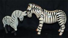 2 Vtg Ceramic Zebras Figurine ~ Made in Japan ~mid century look