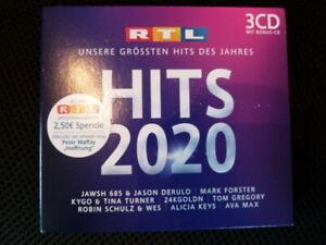 RTL-HITS 2020 - Unsere größten Hits 2020    Schnäppchen - Neuwertig 3CDs