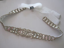 Wedding Dress Glass Diamond Studded Belt