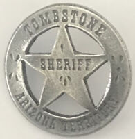 1 in HAT PIN TOMBSTONE SHERIFF ARIZONA TERRITORY OLD WEST BADGE 15 Made in USA