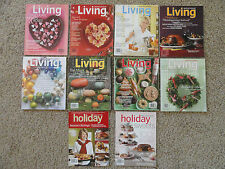 MARTHA STEWART LIVING MAGAZINES 10 BACK ISSUES 05-08  VALENTINE, SPECIAL HOLIDAY