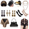 Vintage 1920s Roaring 20s Gatsby Party Flapper Costume Accessories Headpiece