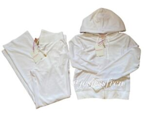 Juicy Couture Sport white Full Velour Tracksuit