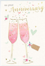 Open  Anniversary Card With Love Celebrations