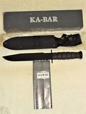 ~New~ Ka-Bar 1271 Black Fighter Knife w/Sheath, Box, Never Sharpened, Olean Ny
