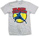 Marvel Comics - Black Panther Grigio T-Shirt Unisex Tg. S ROCK OFF
