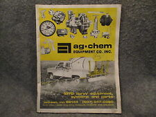 Ag-Chem Equipment Compnay INC. 1978 Spray Equipment Systems & Parts Manual Guide