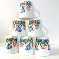 Set of 6 Corelle Corning Tulip Coffee Tea Cup Mug USA Microwave Ok Vintage