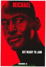Space Jam Film Poster Original Mint ! DS 27x40 Rare Michael Jordan Style Advance