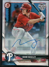 ADAM HASELEY AUTO 2018 Bowman Topps Holiday HOBBY PROMO #/99 Phillies Rookie RC