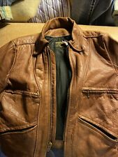 Vintage 70s Vanson Leather Cafe Racer Moto Brown Made In Boston, Ma Beautiful
